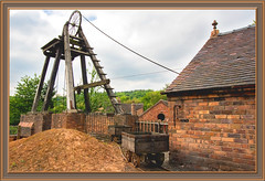 Winding Engine&Mine shaft (williamwalton001) Tags: industrialbuildings mine clouds trees colourimage borders framed wooden