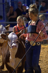 Being Judged (swong95765) Tags: cow young statefair girls judging contest event crowd blond