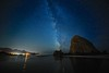Cannon Beach (eikonologos.images) Tags: cannonbeach haystackrock milkyway nikondf zeiss15mm oregon coast