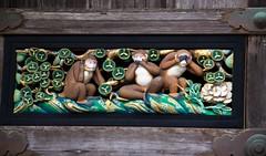 The Three Wise Monkeys (Hear no evil, Speak no evil, See no evil) (SAM601601) Tags: threewisemonkeys monkey wise japan sanzaru shinkyusha sacredstable sam601601 nikko