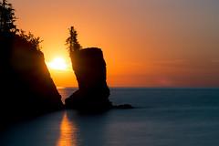 Sunrise at Tettegouche State Park (baumannjoe) Tags: minnesota sunrise landscape lakescape