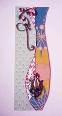 BM8 - Handmade bookmark (tengds) Tags: bookmark unevenmargin lightblue red white orange blue papercraft handmade tengds