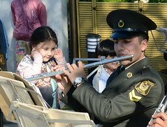 I do not hear music (Azerbaijan) (trendnewsagency) Tags: music azerbaijan baku child girl military flute indoor flauto still life sound musica       instrument musical orchestra band