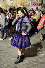 Traditional peruvian phone call (Nicolas Rénac) Tags: cusco gente qosqo perú cusquenian sudamérica inca andes incas plazadearmas parade carnaval dancerofperu danzasdelperu woman mujer traditionaldances traditionalcostume dancingincarnival party festival colors costumes costume night women dresses braids heritage history life peruvian people dance dancer danzas pérou amériquedusud altitude américa latinoamérica peru perù southamerica sudamerica americalatina colorful andean canon6d 24105l quechua piruw colours traditional tradition folklore carnival fancy disguise girl face faces visage portrait nice