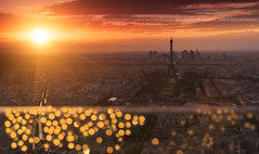 The Light of Paris ... (Yannick Lefevre) Tags: europe france paris toureiffel tour montparnasse ladéfense roof landscape cityscape city pov sunset drop bokeh nikon raw nef nikkor24120f4 leefilters 06gndsoft hitech 09gndreverse tripod manfrotto lightroomcc photoshopcc