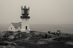 Lighthouse (AstridWestvang) Tags: coast lighthouse lindesnes people rock sea ww2