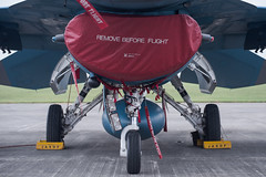 REMOVE BEFORE FLIGHT (kasa51) Tags: airplane aircraft jetfighter landinggear airintake cover f2 yokotaairbase tokyo japan jasdf