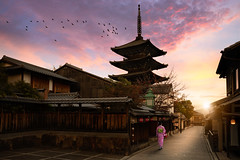 Sannen Zaka Street (Patrick Foto ;)) Tags: ancient architecture asia buddhism building city cityscape culture dawn female gion higashiyama hokanji illuminated japan japanese kansai kimono kyoto kyotobu kyotoshi landmark lights morning old pagoda people region religious sannen shinto shrine sky street temple tourism tower town tradition traditional travel twilight urban walk woman wooden yasaka zaka zen kytoshi kytofu jp