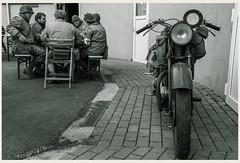 Back and safe (ericbaygon) Tags: bike moto militaire military soldat noiretblanc noirblanc bw blackwhite vintage d300s nikon nikonpassion guerre war soldier lichtervelde