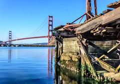 Abandoned Pier (_ Ivor_) Tags: goldengate goldengatenationalrecreationarea goldengatebridge nikond7200 18300 18300mmf3556 pier abandoned california hdr hdrmerge lightroom6