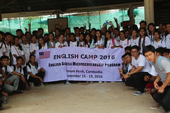 The U.S. Embassy welcomed over 100 Cambodian high school students for a three-day English Camp of fun-filled games and activities. (USEmbassyPhnomPenh) Tags: professor volunteer english language specialist program environmental themes natural resources biodiversity camp scholarship recipient capacity communicate interactive activities experience learning academic knowledge classroom peers province culture united states microscholarship us government student youth educational opportunities