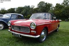 Peugeot 404 Cabriolet (Monde-Auto Passion Photos) Tags: voiture vhicule auto automobile peugeot 404 cabriolet rouge france 48h montargis villemandeur domaine lisledon
