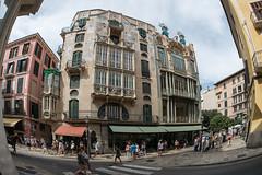 Modernismo - Can Forteza Rey (pstani) Tags: antonigaudi balearics callecolom europe llusfortezairey mallorca modernismo palma spain architecture fisheye canfortezarey