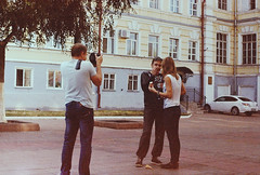 (VeronikaMagic) Tags: lomo film lomography life view september autumn russia fed walk everyday town city streets street people moments