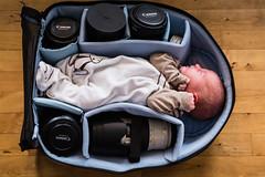 Latest addition to the camera bag (bredsig) Tags: newborn camera camerabag bag lenses baby babygirl sleep crumpler crumplerbags karachioutpost