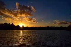 Sunset over the millpond #sun #sky #sunset #cheshire #water #pond #mill #clouds #sundown (nds6346) Tags: sun sky sunset cheshire water pond mill clouds sundown