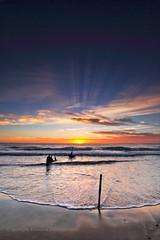 Sunshine Coast sunrise (Howard Ferrier) Tags: oceania elements sand sunrise waves pacificocean dawn contrejour air hdr marinevessel coralsea sea seq ssdickey silhouette beach ocean sunshinecoast crepuscularrays shipwreck australia caloundra dickybeach queensland dickeybeach