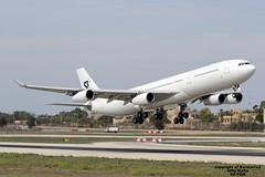 9H-TQM LMML 29-09-2016 (Burmarrad (Mark) Camenzuli Thank you for the 20.9) Tags: airline hifly malta aircraft airbus a340313 registration 9htqm cn 117 lmml 29092016