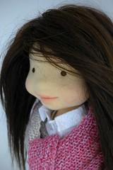 NINA 20inch doll (Dearlittledoll) Tags: waldorf waldorfdoll waldorfdoll20inch waldorfinspired dearlittledoll brown natural lambskin limbeddoll organicdoll