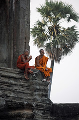 Monks at Angkor Wat (Oliver J Davis Photography (ollygringo)) Tags: travel people heritage history archaeology monument boys youth buildings temple construction ancienthistory nikon ruins cambodia southeastasia khmer towers angkorwat unescoworldheritagesite worldheritagesite monks civilization siemreap angkor ancientcivilization archeology civilisation worldheritage d90 2013 ancientcivilisation travelnikon