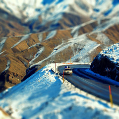 Through the mountains (Bjrn Giesenbauer) Tags: snow mercedes morocco atlas faketiltshift