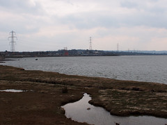 New Loughor railway bridge 1st April 2013 (5) (Gareth Lovering) Tags: bridge water swansea wales night river landscape group railway trains olympus llanelli user omd lovering networkrail loughor em5 oowug