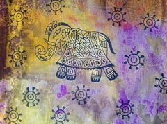 Block print to create your own elephant wall art (Colouricious) Tags: elephant printmaking prints block textiles textileart printingblock blockprinting textiledesign printingonfabric elephanta
