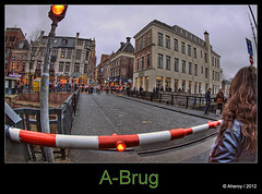 A-Brug,Groningen stad,the Netherlands,Europe (Aheroy) Tags: street city bridge holland art water netherlands dutch architecture clouds fun town europe colours different nederland surreal fisheye hallucination groningen stad streetshot tonemapped singlerawhdr abrug aheroy aheroyal astraat beautifulgroningen canonef815mmf4lfisheye