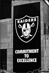 Commitment to Excellence [2013] (luqmac) Tags: california usa oakland oaklandca eastoakland oaklandraiders raidernation ococoliseum