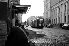 Bow down before photography (Muhonion) Tags: city blackandwhite bw detail suomi finland landscape spring helsinki finnland cityscape capital stadt helsingfors stad maisema mv aleksanterinkatu kevät kaupunki yksityiskohta mustavalkoinen pääkaupunki kaupunkimaisema nikkor35mm18 nikond7000