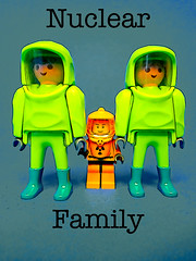 Nuclear Family (tim constable) Tags: old uk 2 two green yellow bristol fun stand team dad child boots father small daughter young mother large nuclear son rubber several suit mum parent together tiny caution definition tall dual protective middle sidebyside protection wit meaning biological visor familiy witty pun chemical cautious warfare piggyinthemiddle cityofbristol timconstable
