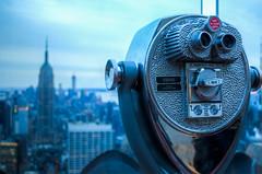 New York City   |   Telescope (JB_1984) Tags: nyc newyorkcity usa ny newyork tower skyscraper unitedstates bokeh manhattan rockefellercenter midtown binoculars telescope empirestatebuilding bigapple hdr highdynamicrange topoftherock observationtower
