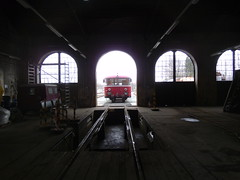 Through the Shed (cessna152towser) Tags: germany ddm railwaymuseum engineshed railbus schienenbus