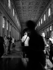 64 (Fu Ke) Tags: santa light summer people bw italy rome roma building art classic church window saint architecture major artist maria basilica mary virgin architect di maggiore ricoh atmosphre blessed aperature