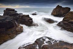 Le Puits d'Enfer #1 ~ Le Château d'Olonne [ Vendée ~ France ] (emvri85) Tags: sunset seascape nature rocks coucherdesoleil rochers lessablesdolonne zf2 lechateaudolonne distagont3518 paysdesolonnes lepuitsdenfer