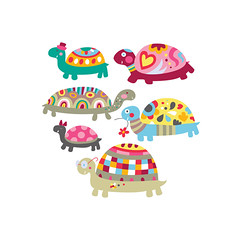 Cute Turtles (Adina C) Tags: cute illustration colorful vector cuteanimals childrenillustration contemporaryillustration freelanceillustrator