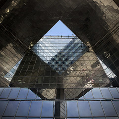 Triangular Angularity (violinconcertono3) Tags: bridge reflection building london architecture triangles one squareformat davidhenderson londonist londonlandmark londonphotographer
