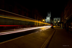 The night bus (Andrew J Wells) Tags: road city colour bus abbey car night buildings photography lights bath headlights afterdark trafic lighttrail andrewwells ajwphotography