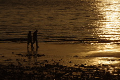 16a (shinytreats) Tags: sea nature water silhouette southwales sunrise landscape pier seascapes penarth slowshutterspeed