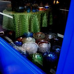 antique glass (SOVA5) Tags: blue window glass storefront ricoh grd grd2 grdigital2 gr