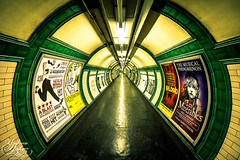 Embankment tunnel (Paki Nuttah) Tags: city uk travel england london train underground europe transport tube rail tunnel gb embankment
