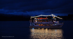 Week 08 - Valdivia (LaTorreblanca) Tags: chile blue light water night river boat barco reflejos valdivia