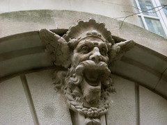 Gargoyle 8556 (Brechtbug) Tags: park street new york city nyc building art face birds monster stone architecture laughing fur mask dwarf manhattan lexington painted magic side decoration feathers feather like lord east gargoyle uptown rings tiles clay type gollum avenue creature decor golem between glazed 66th 2013