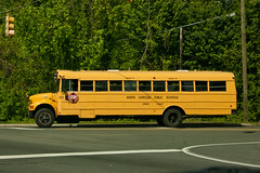 Orange County School Bus (tommaync) Tags: bus schoolbus yellow orangecounty chapelhill nc nikon d40 tom april 2013