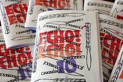 Echo! Echo! #10 (Keet G) Tags: zine zines balisong blockprinting perzine typewritten photocopied echoecho personalzine