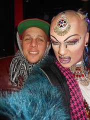 HARRY CROSS and SAL-E on 2-17-2013 (SAL-E) Tags: chicago club fur drag costume scary paint artist sale painted clown sunday makeup queen host freak jedi nightlife creature clubkid clublife smartbar clubcreature freakdrag paintedclown 20130225queen 20130217queen