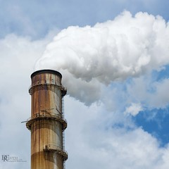 Sky Sewage (Dennis Cluth) Tags: clouds nikon smoke stack environment d800