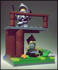 Troll under the bridge (gravescout) Tags: bridge monster fun lego knight troll vignette minifigures