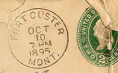 Fort Custer, Montana (Postmarks from Montana) Tags: montana postmark 1895 fortcuster october10