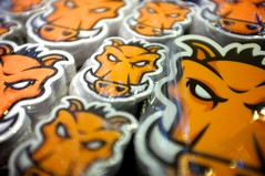 "Grunt sticker pr0n (""Cowboy"" Ben Alman) Tags: orange logo stickers boar grunt warthog"